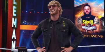 Logan Paul Takes a Stunner During Wrestlemania 37 Night Two