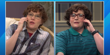 [WATCH] Aidy Bryant, Carey Mulligan Almost Break in SNL Skit